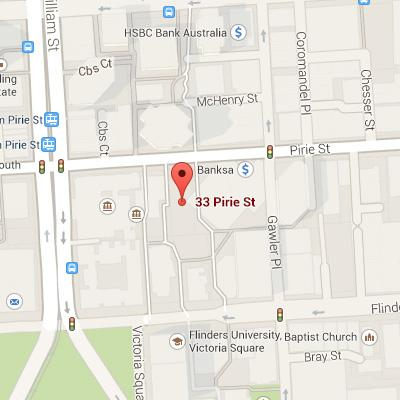map of our address in Adelaide, Australia