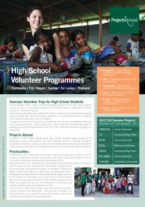 Projects Abroad - High School Volunteer Projects (NZ)