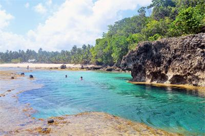 Scenic view of pristine waters at Philippines beach, Asia