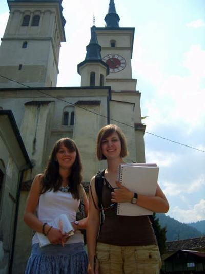 Journalism interns in Romania