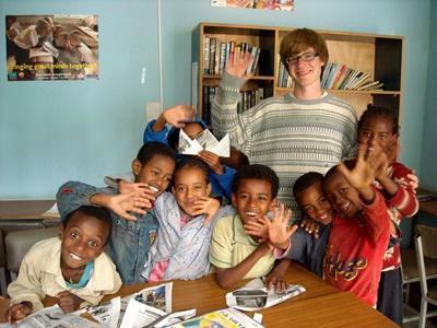 Overseas volunteer work with Children in Ethiopia