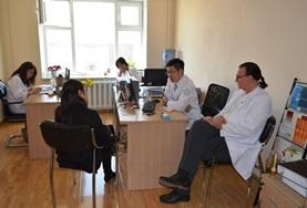 A Psychology volunteer meets with local mental health professionals to discuss treatment techniques in Mongolia.
