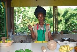 A Jamaican woman from a Rastafarian community where volunteers from our cultural immersion Fixed Date 50+ Project live.