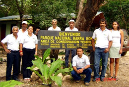 Two High School Project volunteers help with reforestation work as part of their Conservation project in Cost Rica.