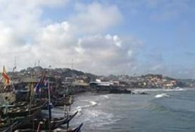 A view of Cape Coast, Ghana, where our volunteers can take part in Twi language classes.