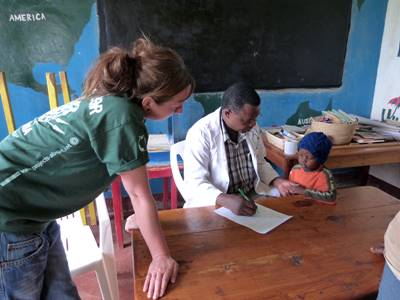 Projects Abroad volunteer on an occupational therapy placement in Tanzania