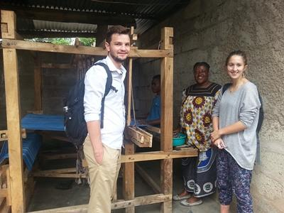Projects Abroad Micro-finance volunteers visit the home of a business woman at their project in Tanzania