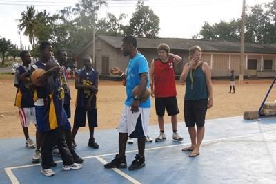 Volunteer basketball Sports coaching in Ghana