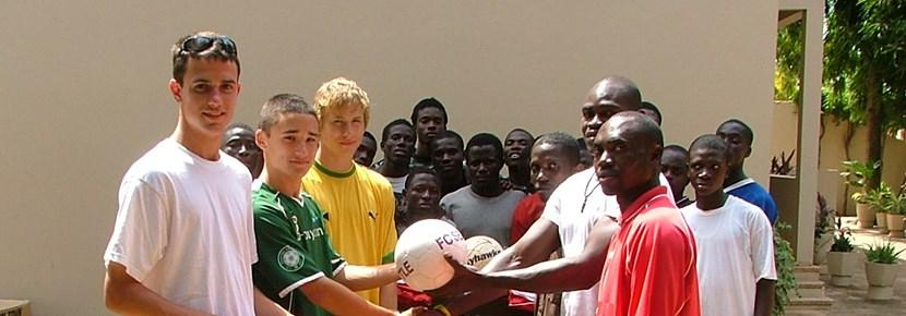 Volunteer football coaching abroad